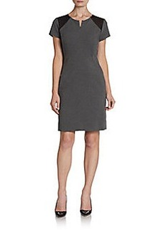 Diane von Furstenberg Havana Contrast Shift Dress