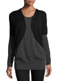 Lafayette 148 New York Oversized Colorblock Sweater, Black/Smoke