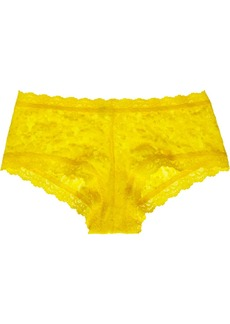 Hanky Panky Signature mid-rise stretch-lace boy shorts