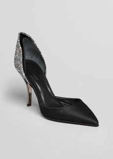 Delman Pointed Toe Evening Pumps - Baron Glitter
