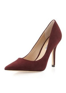 Charles David Sway II Pointy Suede Pump, Plum