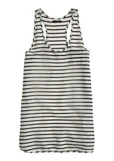 Gauze tank dress in stripe