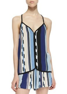 Ella Moss Ocean Striped Tank Top