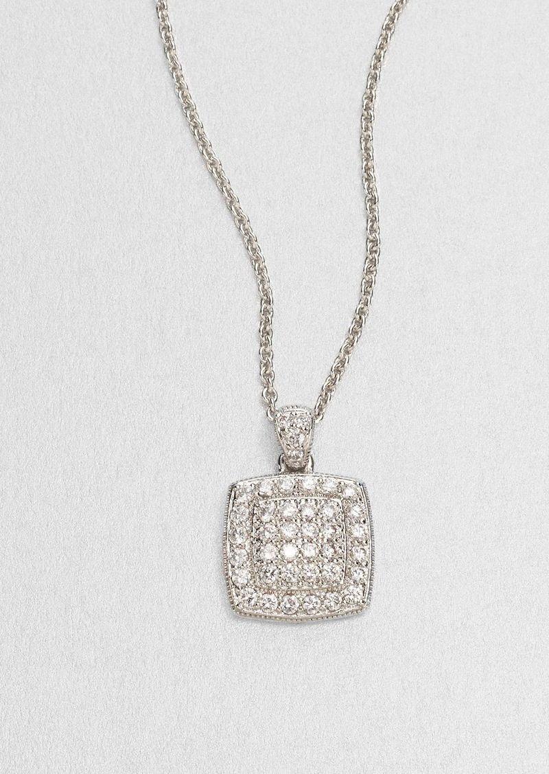 Adriana Orsini Squared Sterling Silver Necklace