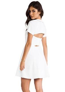 Rebecca Taylor Poplin Cut Out Dress in White