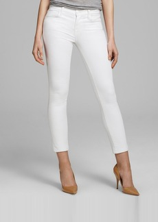 J Brand Jeans - Mid Rise Crop Rail in Blanc