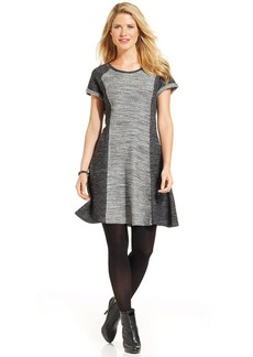 Style&co. Petite Colorblock French-Terry Dress