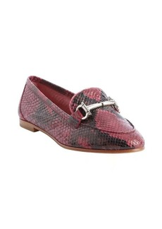Salvatore Ferragamo pink snake embossed leather horsebit detail 'My Informal' loafers