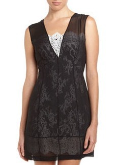 Robert Rodriguez Illusion Lace Dress, Black