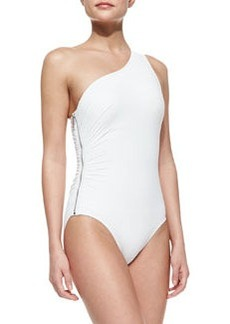 One-Shoulder Zip Maillot   One-Shoulder Zip Maillot