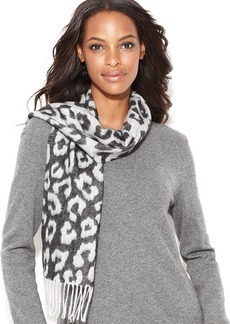 Charter Club Exploded Leopard Cashmere Scarf
