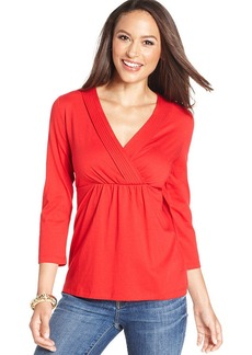 Charter Club Petite Empire-Waist Top