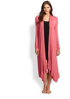Donna Karan Knit Drape Robe
