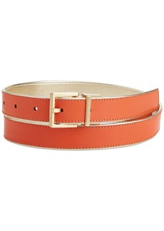 Calvin Klein Metallic Piping Reversible Belt