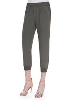 Joie Mariner Cropped Pull-On Pants, Fatigue