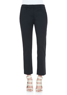 Derek Lam Cropped Crepe Trousers, Black