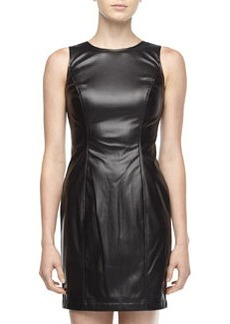 Marc New York by Andrew Marc Faux-Leather Sleeveless Dress, Black