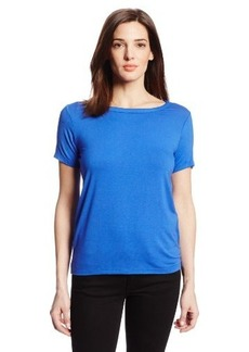 Jones New York Women's Petite Short Sleeve Scoop Neck T-Shirt