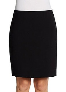 Saks Fifth Avenue RED Faux Leather-Trimmed Pencil Skirt