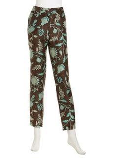 Lafayette 148 New York Floral-Print Slim-Cut Pants