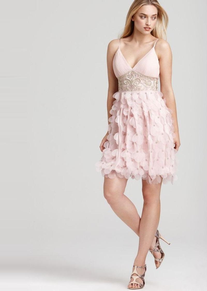 Sue wong sue wong short beaded dress with petal skirt for Sue wong robes de mariage