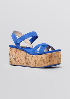 DKNY Platform Wedge Sandals - Franka