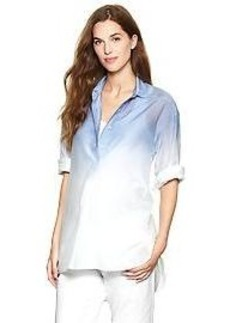Three-quarter sleeve dip-dye henley