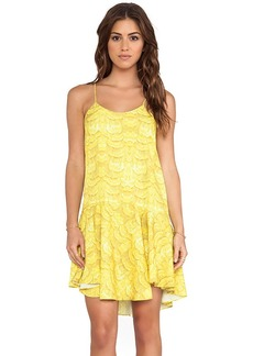 Tibi Ibis Ruffle Cami Dress in Yellow