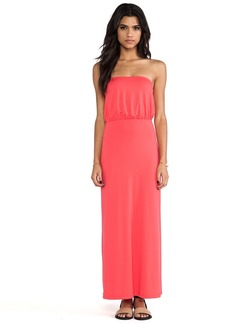 Susana Monaco Blouson Tube Dress in Coral