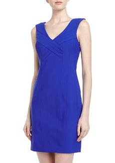 Laundry by Shelli Segal Couture Contour Crisscross Front Travel Dress, Cobalt