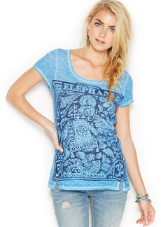 Lucky Brand Short-Sleeve Burnout Graphic Tee