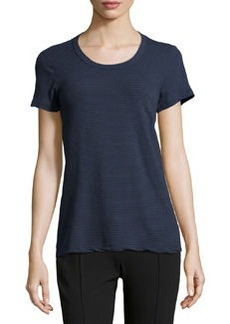 James Perse Short-Sleeve Striped Stretch-Knit Tee, Deep