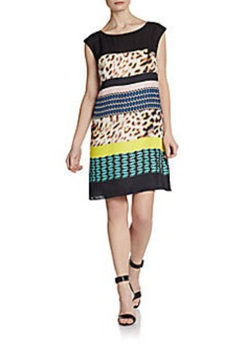 Catherine Malandrino Cari Printed Cap-Sleeve Dress