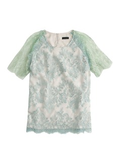 Collection metallic lace top