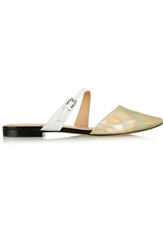 Sigerson Morrison Heidy metallic leather point-toe flats