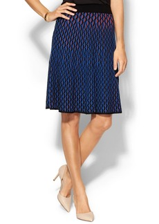 M Missoni Micro Vertical Fan-Stitch Skirt