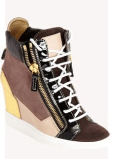 Giuseppe Zanotti Colorblock Zip Wedge Sneaker