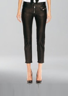 Michael Kors Leather Zip Cropped Pants