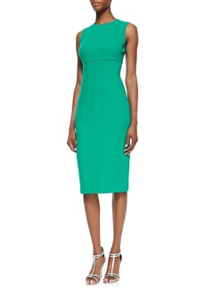 Michael Kors Stretch Boucle Crepe Sleeveless Dress, Emerald