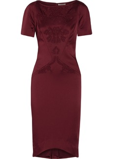Zac Posen Embellished satin-crepe dress