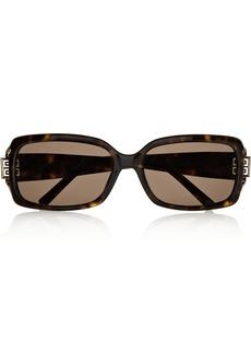 Givenchy Square-frame tortoiseshell sunglasses