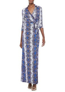 Abigail Python-Print Wrap Maxi Dress   Abigail Python-Print Wrap Maxi Dress