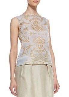 Lafayette 148 New York Maddie Sleeveless Damask Top