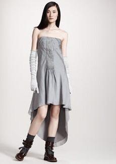 Brunello Cucinelli Bib-Detail Strapless Dress