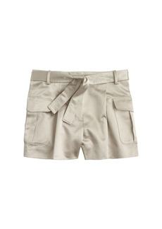 Collection belted short in Italian satin