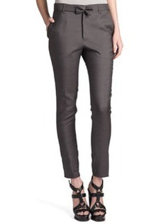 Jil Sander Rocky Bow-Belt Pants, Gray