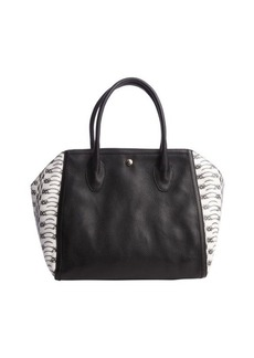 Furla black and white snake embossed leather 'Olimpia' shoulder bag