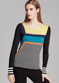 Catherine Malandrino Sweater - Cailin Jacquard Print