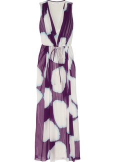Diane von Furstenberg Hailey printed silk-chiffon maxi dress