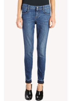 Stella McCartney Gradient Cuff Cropped Skinny Jeans